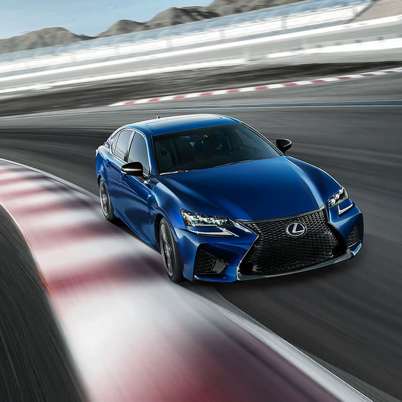 Lexus gsf driving on track